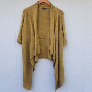 Eileen Fisher Open Front Waterfall Cardigan Olive